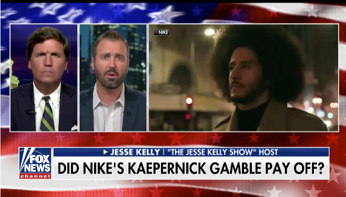 Jesse talks about Kaepernick on Fox News with Tucker Carlson